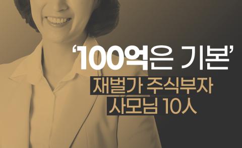 '100억은 기본' 재벌가 주식부자 사모님 10人