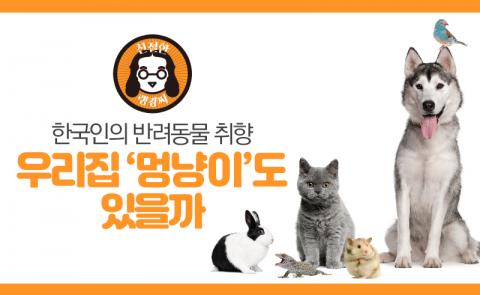 순위로 본 한국인의 반려동물 취향…우리집 '멍냥이'도 있을까