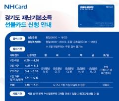 농협카드, 경기도 코로나19 재난기본소득 선불카드 지급