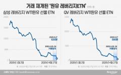 '거래재개' 원유ETN 또 폭락···'추가정지' 불가피