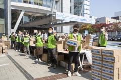 [코로나19 기업이 나섰다]코오롱, 취약계층 아동에 마스크 등 물품 지원
