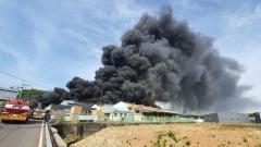 김포 폐기물 재활용 업체서 큰 불···소방 대응1단계