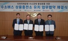 현대차, 2021년 인천공항 '수소전기버스 충전소' 완공한다