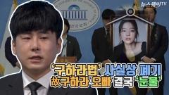 [뉴스웨이TV'구하라법' 사실상 폐기…故구하라 오빠 결국 '눈물'