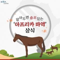 한국마사회, '아프리카마역 예방 온라인' 홍보대사 나서