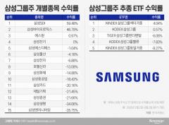 삼성그룹주 ETF의 굴욕…삼성전자 때문에 여전히 마이너스