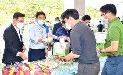 경북도, '마늘소비촉진 판매행사' 개최... 꽃·우유 무료 나눔