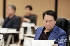 """머리 맞댄 SK 경영진…최태원 """"기업가치 스토리 만들자""""(종합)"""