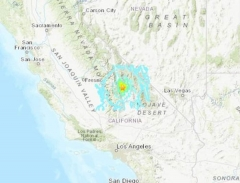 미 캘리포니아 산악지대서 규모 5.8 지진…인명·재산피해 없어