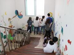 사학연금, 나주교육지원청과 아름다운 학교 벽화그리기 동참