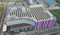 한화큐셀, BGF리테일 진천 물류센터에 1MW급 태양광발전소 준공