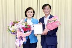 안혜영 경기도의회 부의장, '정책백서 성과보고 및 공로패 전달식'서 공로패 수상