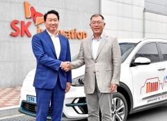 정의선·최태원 회동 결실…현대차·SK이노 배터리 생태계 발전 협력