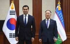 '한-우즈백 경제부총리간 양자회담'