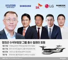 정의선 미래 모빌리티 선도···'게임체인저' 릴레이 회동 마쳐