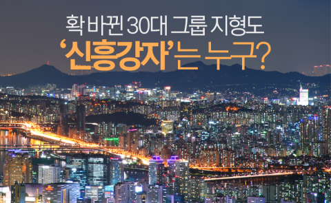 확 바뀐 30대 그룹 지형도···'신흥강자'는 누구?