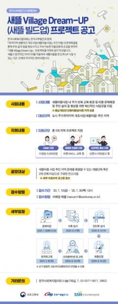 국토부-한국사회복지협의회-서부발전, 새뜰 빌리지 드림업 프로젝트 공모