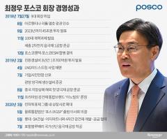 취임 2주년 포스코 최정우···철강 위기속 사업 다변화 속도