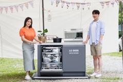 LG전자, 캠핑장서 'LG 디오스 팝업 키친' 이벤트