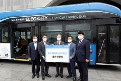 현대차 수소전기버스 '전주市' 달린다