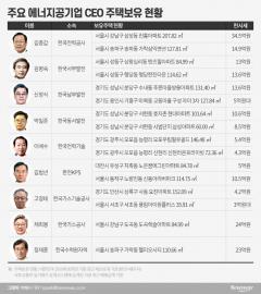 김종갑 등 에너지공기업 CEO 다수 '다주택자'…채희봉 '똘똘한 한채' 눈길