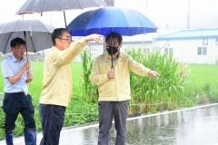 김충섭 김천시장, 집중호우 취약시설 긴급 점검