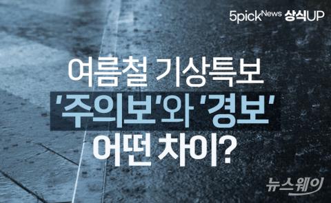 여름철 기상특보 '주의보'와 '경보'···어떤 차이?