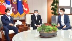 대구경북 지자체장, 국방부장관과 통합신공항 지원 논의