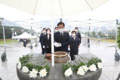 장현국 경기도의회 의장, 15일 '제75주년 광복절' 현충탑 참배