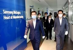 """박남춘 인천시장, 삼성바이오로직스 방문 """"바이오산업 발전에 함께 노력"""""""