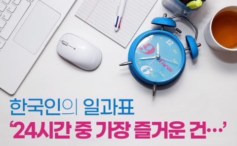 한국인의 일과표 '24시간 중 가장 즐거운 건…'