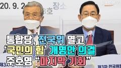 """통합당, 전국위 열고 '국민의 힘' 개명안 의결…주호영 """"마지막 기회"""""""