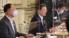 문 대통령, 홍남기 사의 표명 반려 후 재신임(종합)