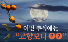 """이번 추석에는 """"고향보다 ○○"""""""