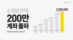 카카오페이증권, 출범 6개월만에 누적 계좌 200만 돌파