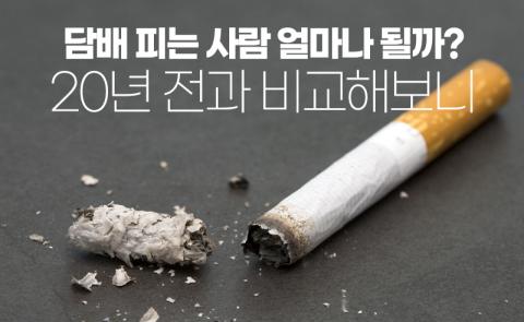 담배 피는 사람 얼마나 될까? 20년 전과 비교해보니