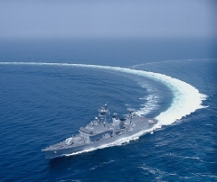 대우조선해양,국내최초 구축함 '성능개량' 성공했다