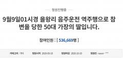 '치킨배달 중 참변' 국민청원 54만명 육박…음주 운전자 14일 구속영장 심사