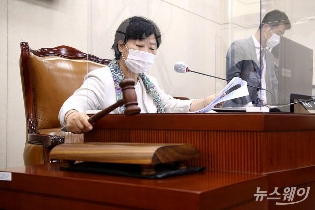 [NW포토]행정안전위원회 전체회의 주재하는 서영교 위원장
