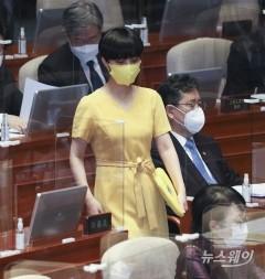 노란 원피스 입고 본회의장 참석한 류호정 의원