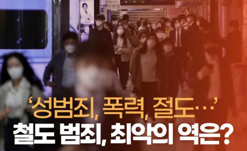 '성범죄, 폭력, 절도···' 철도 범죄, 최악의 역은?