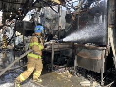 대구 이현동 스티로폼공장 화재…현재까지 인명피해는 없어