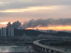 인천 남동공단 화재…소방당국 진화중