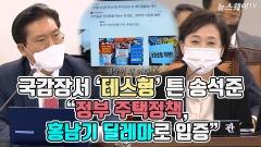 """[뉴스웨이TV]국감장서 '테스형' 튼 송석준 """"정부 주택정책, 홍남기 딜레마로 입증"""""""