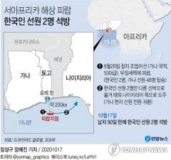 서아프리카 피랍 한국인 선원 2명 50일만에 석방