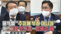 """윤석열 """"추미애 부하 아니야"""" vs 與 """"그럼 친구냐…법대로 해"""""""