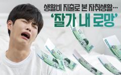 [카드뉴스]생활비 지출로 본 자취생활···'잘가 내 로망'
