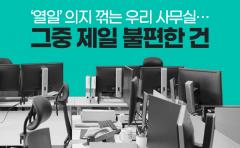 [카드뉴스]'열일' 의지 꺾는 우리 사무실···그중 제일 불편한 건