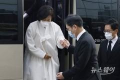영결식 참석하는 이재용 삼성전자 부회장과 홍라희 전 리움미술관장