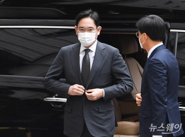 [NW포토]이재용 부회장, '국정농단' 파기환송심 공판 출석